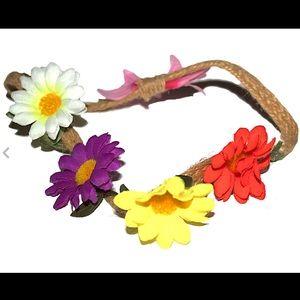 Plastic Sunflower Crown Headband For Kids